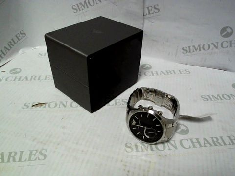 Lot 4327 EMPORIO ARMANI CONNECTED SILVER STAINLESS STEEL HYBRID SMARTWATCH RRP £390.00