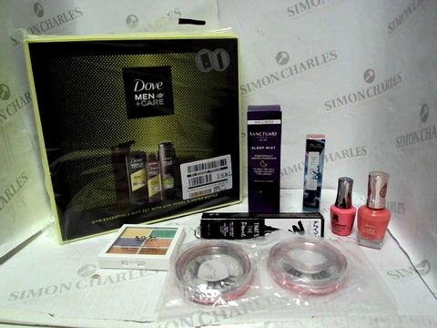 Lot 4392 LOT OF APPROXIMATELY 8 BEAUTY ITEMS, TO INCLUDE SANCTUARY SLEEP MIST, PUR OUT OF THE BLUE LIP GLOSS, SALLY HANSEN COLOUR THERAPY NAIL POLISH, ETC RRP £122.00
