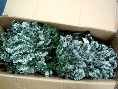 Lot 7407 SNOW-TIPPED CHRISTMAS TREE WITH PINECONE LIGHTS - 6FT RRP £149.99