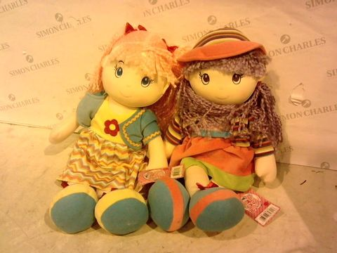 Lot 1123 LOT OF 2 LOLLYPOP DOLLS WITH TAGS