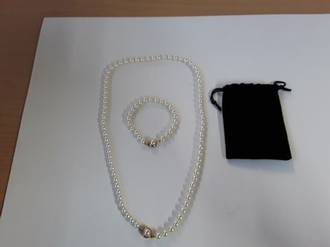 Lot 9333 GENUINE MALLORCA PEARLS NECKLACE/ BRACELET