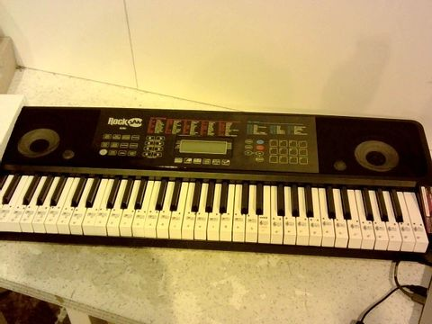 Lot 1012 ROCKJAM RJ761-SK KEY ELECTRONIC INTERACTIVE TEACHING PIANO KEYBOARD