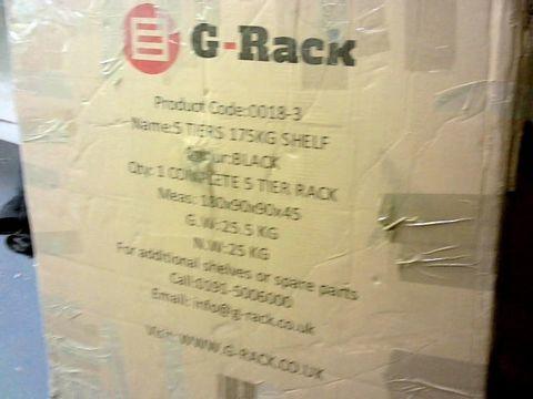Lot 9228 G-RACK GARAGE CORNER SHELVING UNIT: APPROXIMATELY 180CM X 90CM X 90CM X 45CM