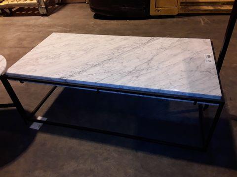 Lot 67 DESIGNER WHITE ONYX RECTANGULAR COFFEE TABLE