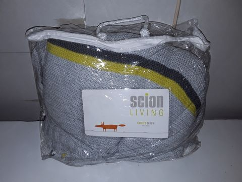 Lot 5035 SCION LIVING KNITTED THROW IN GREY - 150X200CM