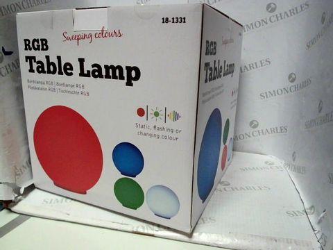 Lot 54 DESIGNER RBG COLOUR CHANGING LAMP