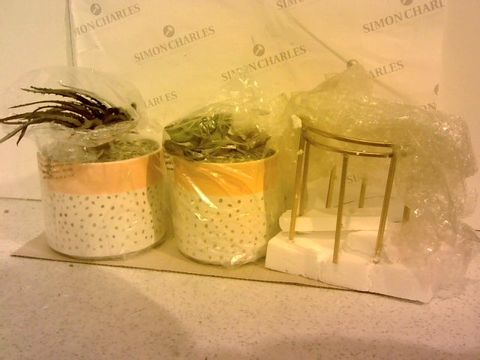 Lot 208 SET OF 2 ARTIFICIAL PLANTS WITH METAL WIRE STANDS