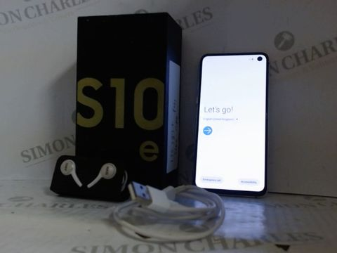 Lot 4212 SAMSUNG GALAXY S10E 128GB ANDORID SMART PHONE - CANARY YELLOW