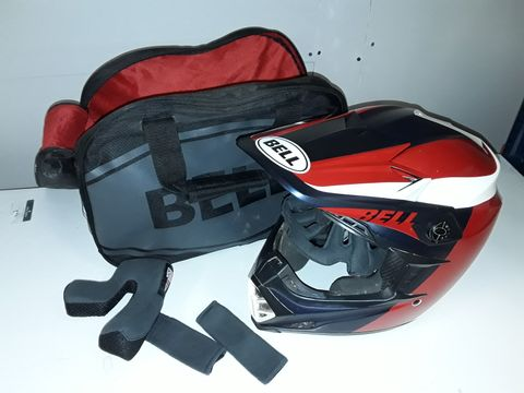 Lot 1130 BELL FULL FACE MOTORCYCLE HELMET IN CARRY BAG