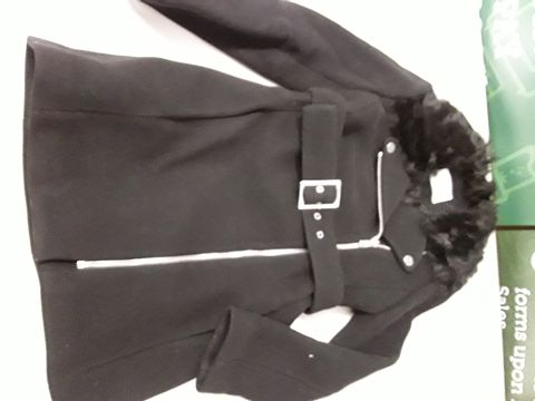 Lot 19 CLAUDIE PIERLOT BELTED FORMAL JACKET IN BLACK - SIZE UNSPECIFIED