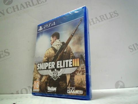 Lot 3155 SNIPER ELITE III PLAYSTATION 4 GAME
