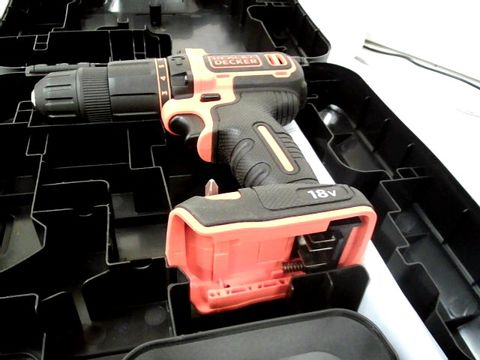 Lot 12521 BLACK AND DECKER CORDLESS 18V HAMMER DRILL