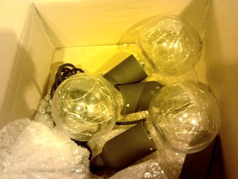 Lot 278 INDOOR/OUTDOOR SET OF 3 PULL CORD LIGHTBULBS WITH COLOUR CHANGE FUNCTION