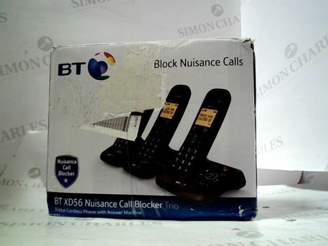 Lot 8464 BT XD56 NUISANCE CALL BLOCKER TRIO DIGITAL CORDLESS PHONES