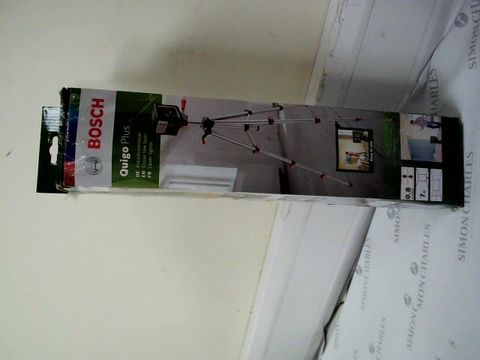 Lot 12419 BOSCH QUIGO PLUS CROSS LINE LASER WITH TRIPOD