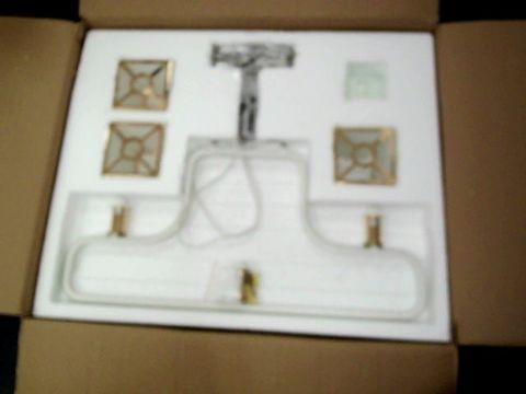 Lot 26 BOXED DESIGNERLED CHANDELIER LIGHT  –   3 ROYAL LAMP BOX