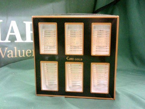 Lot 4160 EURO GOLD 6 PIECE GLASS SET