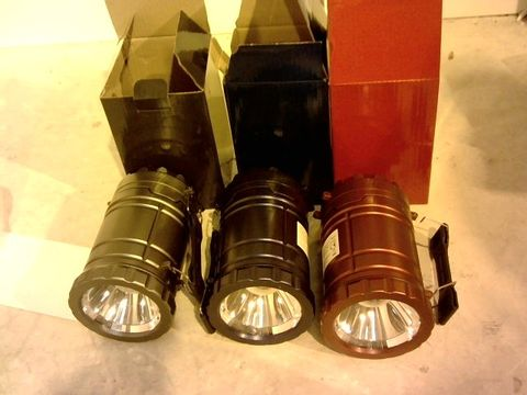 Lot 11057 SET OF COB COLLAPSIBLE INDOOR/OUTDOOR LANTERNS
