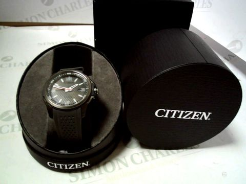 Lot 4149 CITIZEN ECO-DRIVE GREY DATE DIAL GREY SILICONE STRAP MENS WATCH RRP £316.00