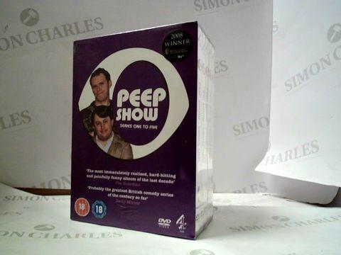 Lot 8143 PEEP SHOW SERIES 1 - 5 BOX SET