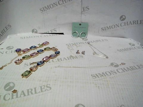 """Lot 4339 LOT OF APPROXIMATELY 6 ASSORTED JEWELLERY ITEMS, TO INCLUDE ACCESSORIZE SILVER HOOP EARRINGS, LOVE SILVER """"CICI"""" NECKLACE, SILVER KNOT EARRING, ETC RRP £174.00"""