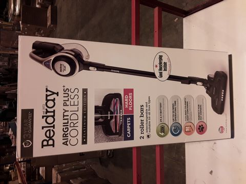 Lot 3199 BELDRAY AIRGILITY + CORDLESS VACUUM CLEANER