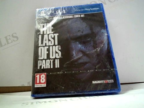 Lot 8008 THE LAST OF US PART II PLAYSTATION 4 GAME