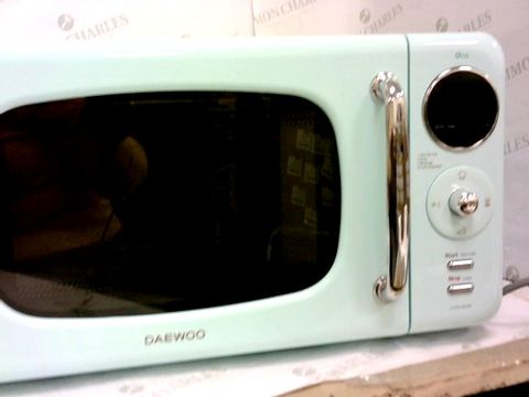 Lot 69 DAEWOO KOR9LBKMR TOUCH CONTROL MICROWAVE, 800 W, 20 L, GREEN