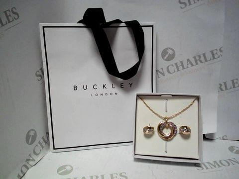 Lot 566 BUCKLEY LONDON RUSSIAN SPARKLE PENDANT AND EARRINGS SET RRP £87.00