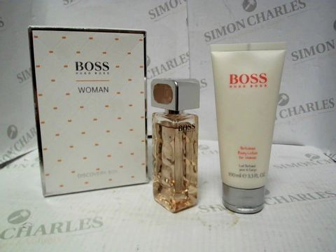 Lot 7234 HUGO BOSS WOMAN DISCOVERY BOX - 30ML EDP AND 100ML BODY LOTION