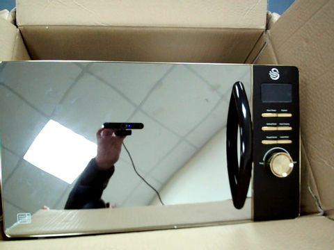 Lot 5205 SWAN 23L DIGITAL MICROWAVE IN BLACK RRP £89.99