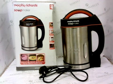 Lot 351 MORPHY RICHARDS 48822 SOUP MAKER, STAINLESS STEEL 1000W, 1.6L