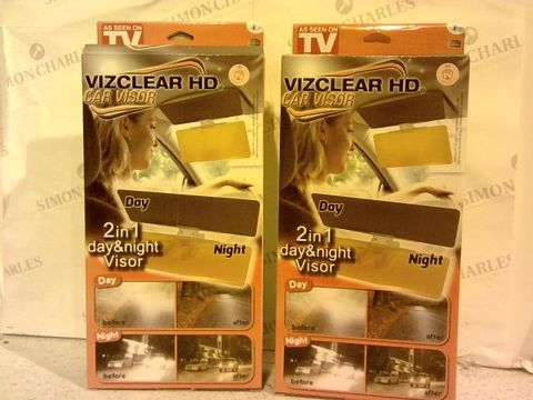 Lot 274 VIZCLEAR DAY NIGHT CAR VISOR SET OF 2