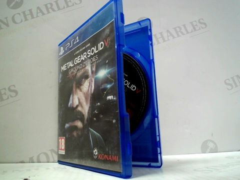 Lot 3147 METAL GEAR SOLID V: GROUND ZEROES PLAYSTATION 4 GAME