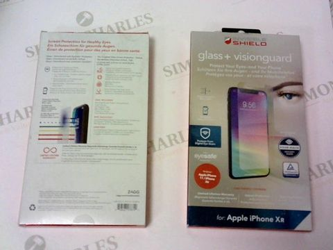 Lot 237 A BRAND NEW BOX OF APPROXIMATELY 5 INVISIBLE SHIELD GLASS + VISION GUARD SCREEN PROTECTORS FOR APPLE IPHONE XR