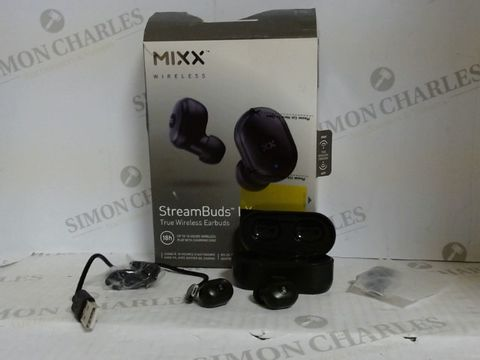Lot 7181 MIXX AUDIO STREAM BUDS LX TRUE WIRELESS EARBUDS - BLACK