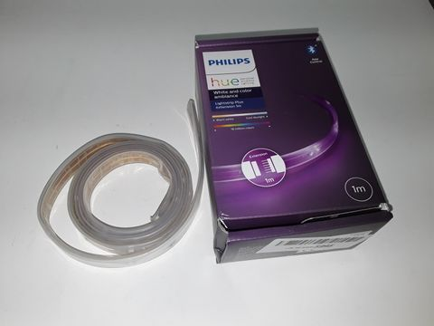 Lot 4250 PHILIPS HUE LIGHTSTRIP EXTENSION V4 [1 M] WHITE & COLOUR AMBIANCE SMART LED KIT WITH BLUETOOTH