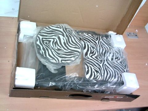 Lot 3250 CHAIR GYM TOTAL BODY EXERCISE SYSTEM - ZEBRA PRINT