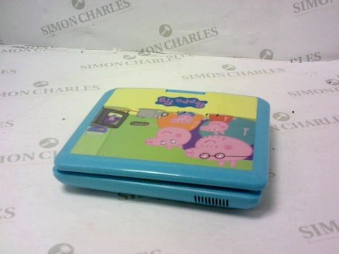 Lot 5472 PEPPA PIG PORTABLE DVD PLAYER RRP £99.99
