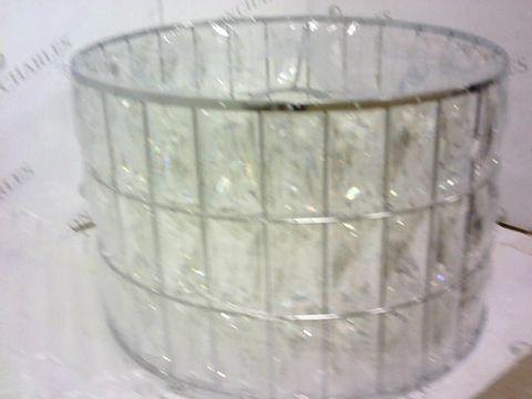 Lot 137 ROSAS GLASS DRUM FLOOR LAMP RRP £104.99