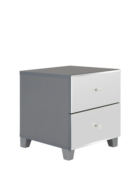 Lot 1053 BELLAGIO MIRRORED 2 DRAWER BEDSIDE CHEST  RRP £119.99