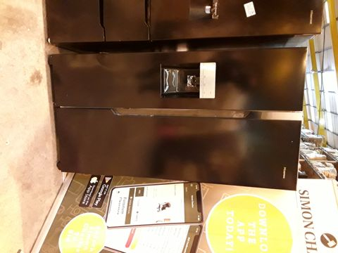 Lot 7081 HISENSE BLACK AMERICAN STYLE FRIDGE FREEZER WITH WATER & ICE DISPENSER RS69N4TB1