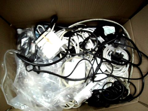 Lot 1395 BOX OF A SIGNIFICANT QUANTITY OF ASSORTED CABLES, LEADS, GAMES CONTROLLERS, ACCESSORIES ETC