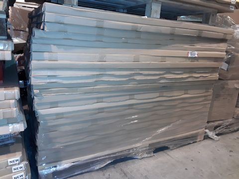 Lot 5098 LOT OF 24 BRAND NEW 1400X1000MM WAVE LEFT HAND DESKTOPS WITH CABLE PORTS - WHITE