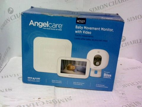 Lot 971 ANGELCARE AC527 3-IN-1 SENSASURE BABY MOVEMENT MONITOR WITH VIDEO WHITE
