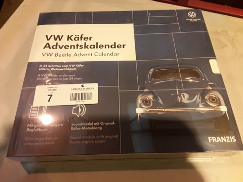 Lot 7 OFFICIAL VW ADVENT CALENDAR - BUILD A VW BEETLE IN 24 STEPS