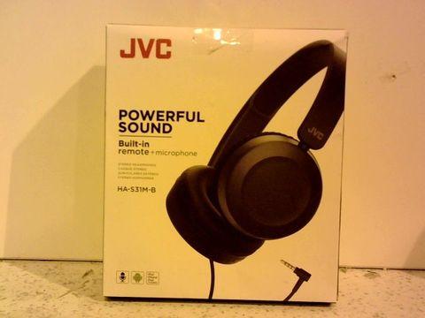 Lot 12322 JVC POWERFUL SOUND HEADPHONES