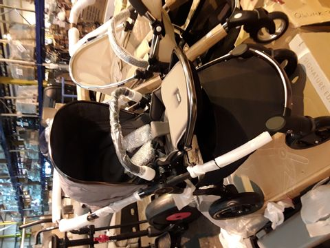 Lot 10544 MAMAS & PAPAS OCARRO STROLLER, COLD WEATHER FOOTMUFF, CUP HOLDER, ADAPTOR AND CHANGING BAG