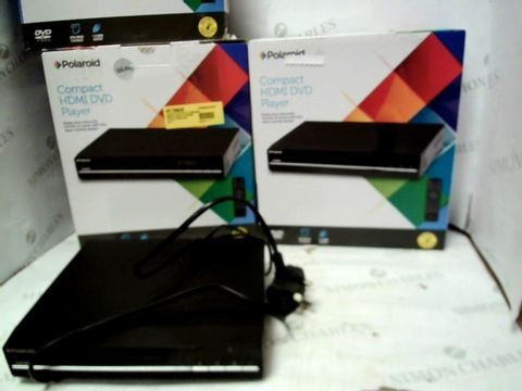Lot 12074 LOT OF 3 POLAROID COMPACT HDMI DVD PLAYERS