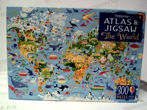 Lot 188 ATLAS AND JIGSAW - THE WORLD